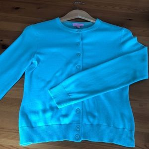 Turquoise Lilly Pulitzer Cardigan